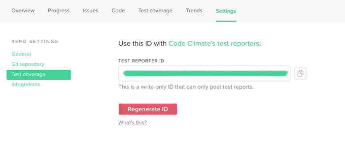 Codeclimate-Test-Reporter-ID